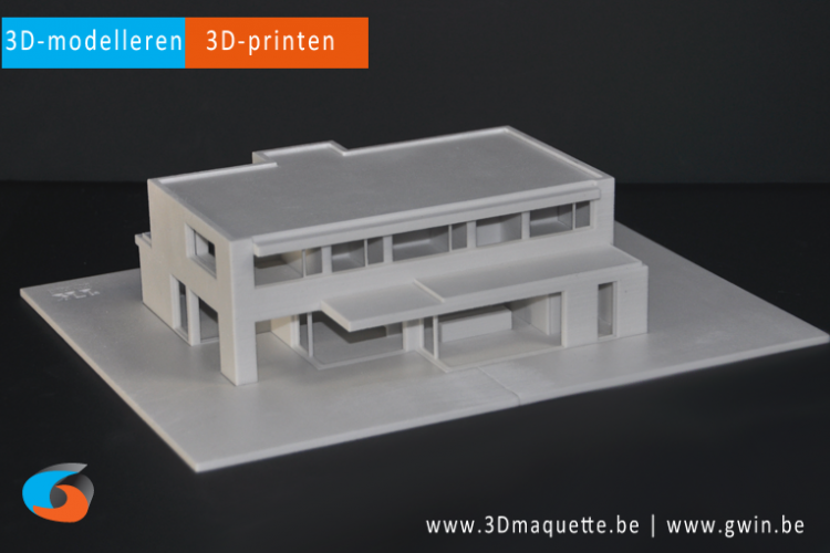 Maquette geprint in 3D